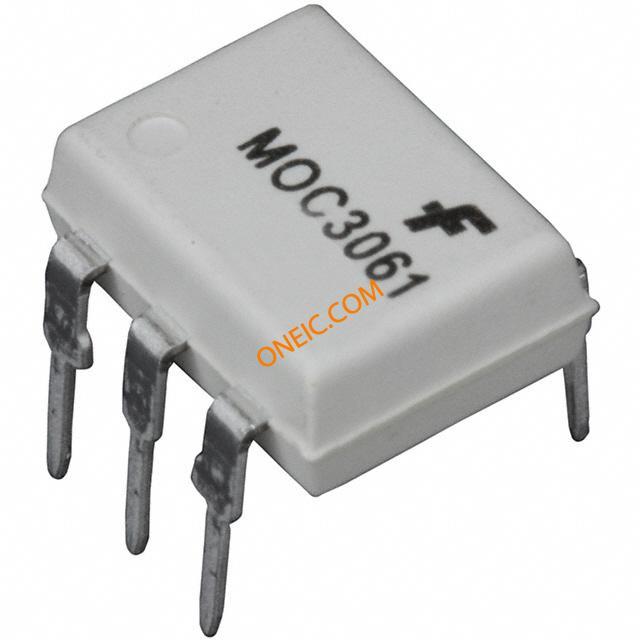 隔离器 光隔离器 集成电路,可控硅输出 moc3061m  厂商型号 产品描述