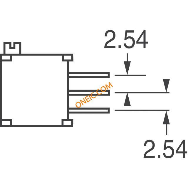 电位器,可变电阻器 断路器 3296x-1-100lf