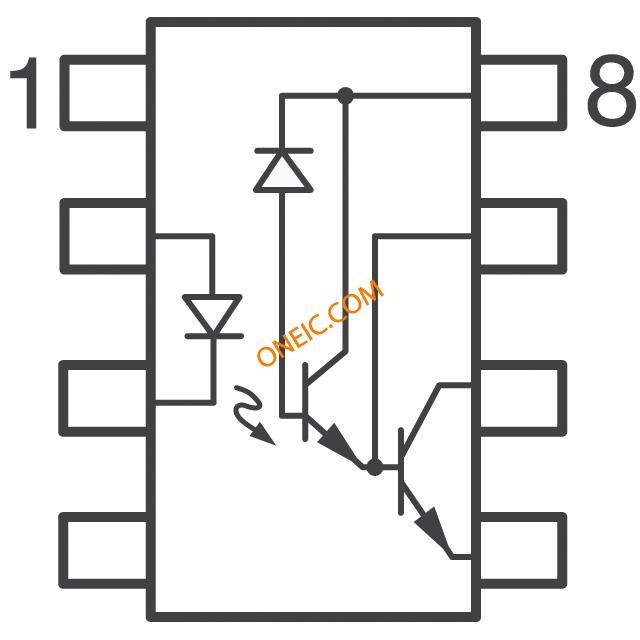 隔离器 光隔离器 晶体管,光电输出 6n138