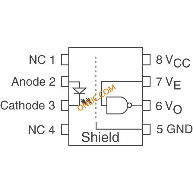 隔离器 光隔离器 逻辑输出 hcpl-061a-000e