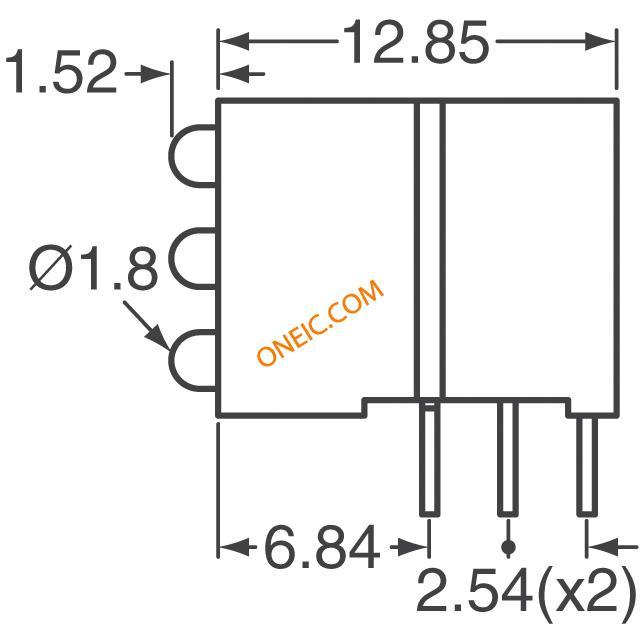 光电 发光二极管 电路板的指标,阵列,光条,棒图 wp4060xh/3gd  厂商型